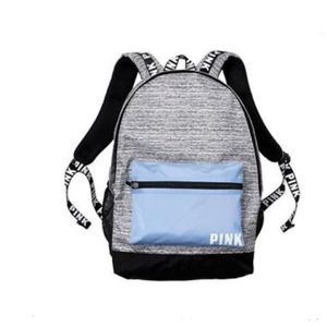 PINK Victoria's secret backpack blue grey